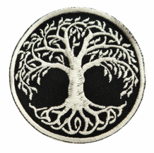 Yggdrasil The Tree of Life Gothic Shaped Embroidered Patch - A523